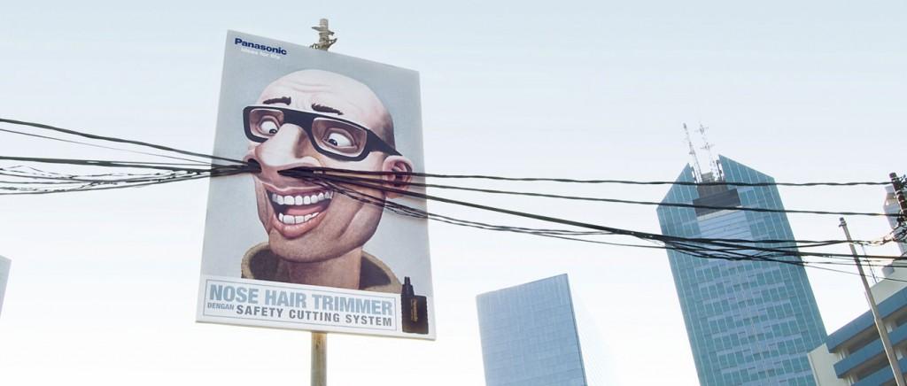 Panasonic - ação externa diferenciad promove cortador de pelos do nariz