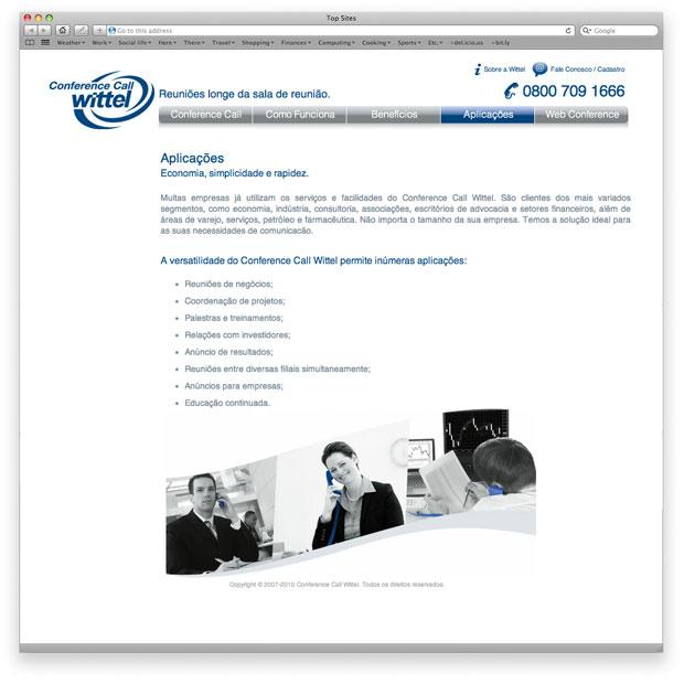 Programação de layout em XHTML - Conference Call Wittel