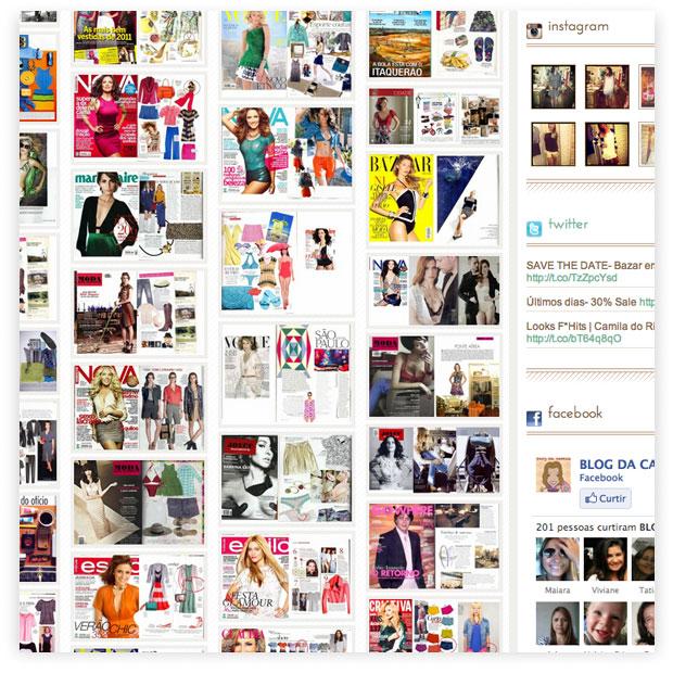 Camila do Rio - criação de identidade visual e layouts