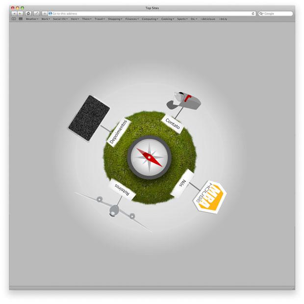 Programação em Flash, criação de layouts e ilustração de ícones