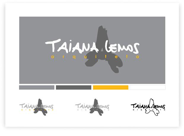 Taiana Lemos - identidade visual e paleta de cores