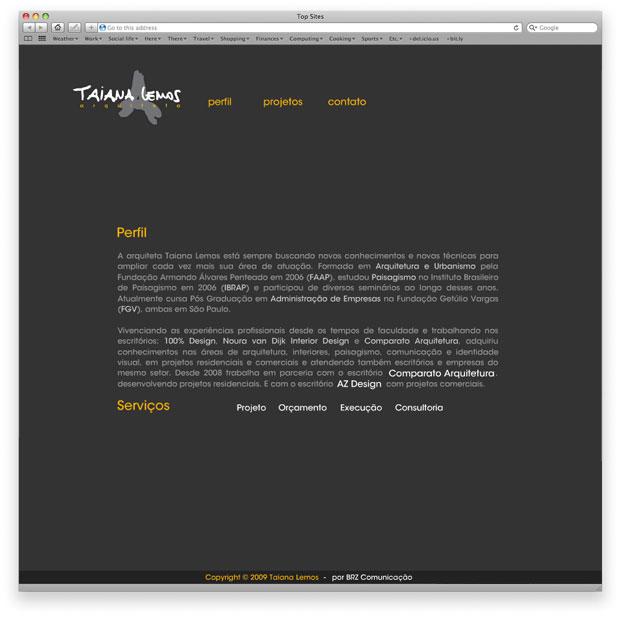 Taiana Lemos - programação de site institucional em Flash