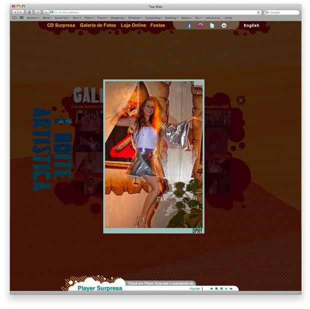 DPNY Records - programação de hotsite em flash AS3