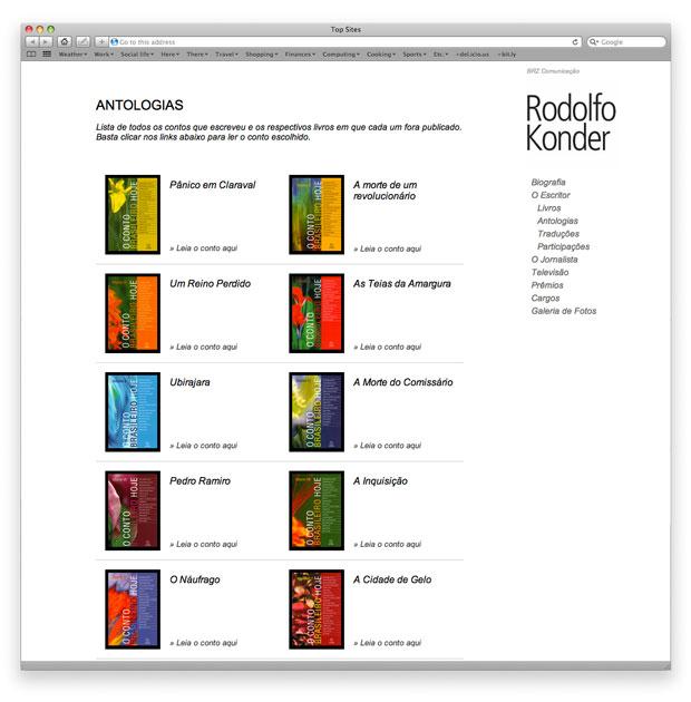 Rodolfo Konder - programação de site em XHTML