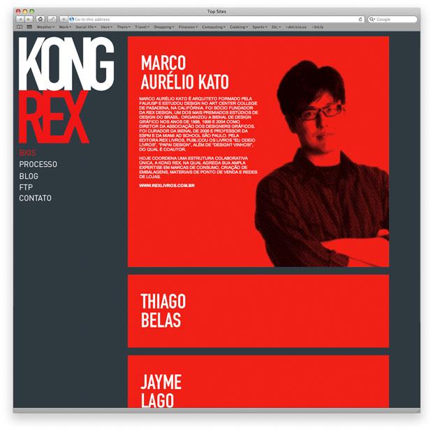 KongRex - programação de layout em XHTML