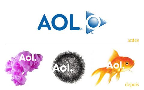 redesgin do logo AOL