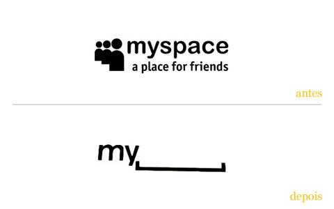 redesgin do logo myspace