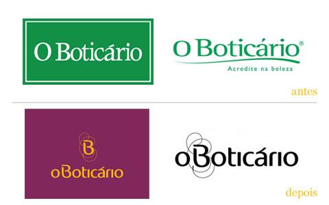 redesgin do logo de O Boticario