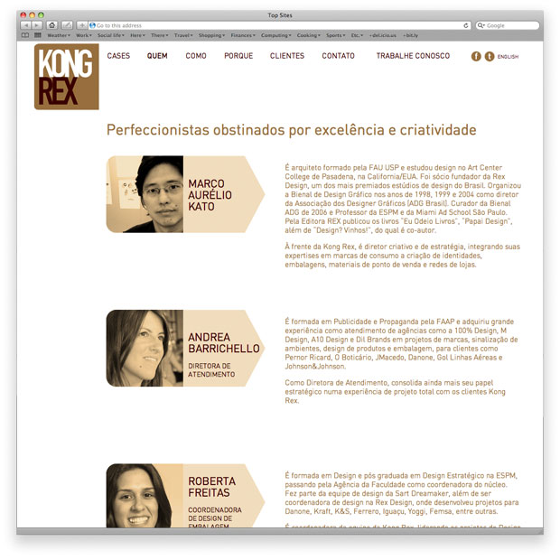 Projeto do site institucional KongRex utilizando WordPress e multilíngue