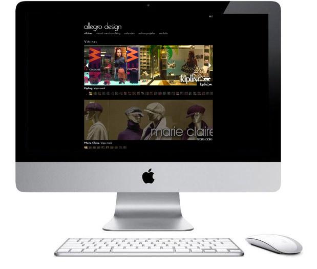 Allegro Design - programação de site institucional - vitrines