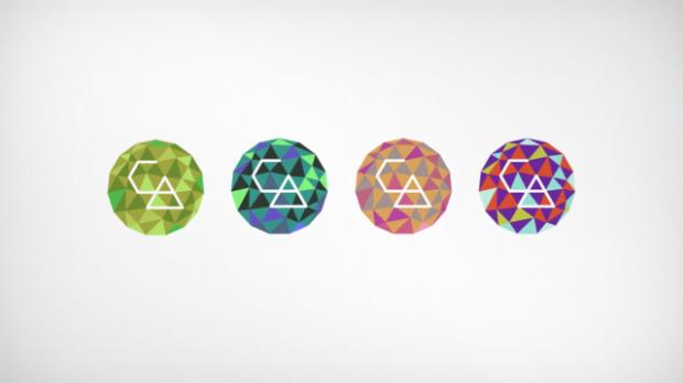 Variações do logo criado em processing para a Creative Applications Network